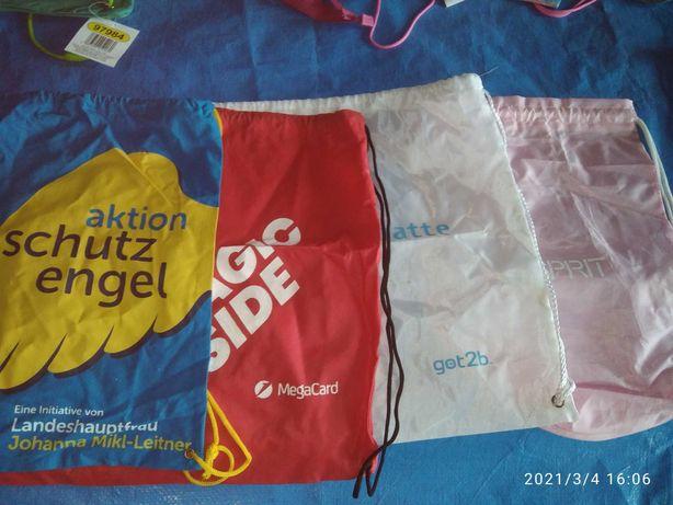 4 worki, torby na gimnastykę