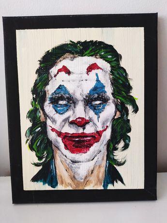 Ręcznie malowany obraz na płótnie joker