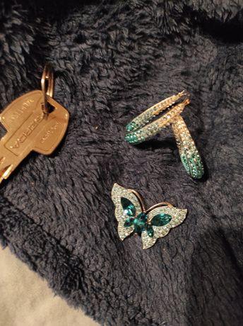 Srebrny zestaw biżuterii z cyrkoniami