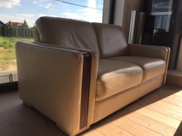 Skóra sofa kanapa 2-osobowa