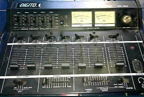 Mesa som/mistura DJ Digito MX-850 slim mixer