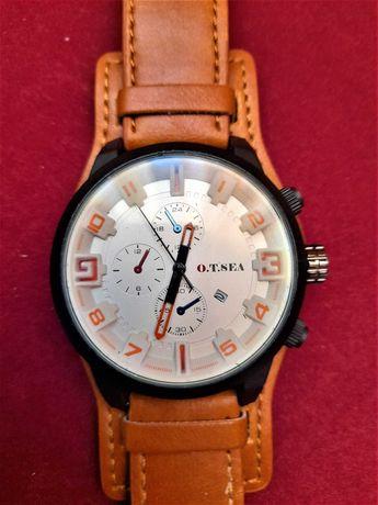 relógio  O.T. SEA Quartz   Com calendário Como novo Bracelete original
