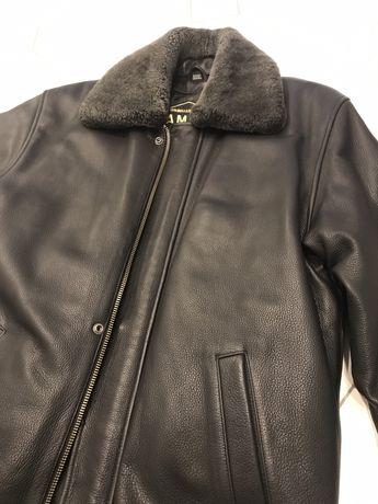Дубянка чоловіча, шкіряна куртка демі зима XL