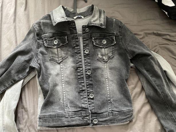 Katana kurtka jeans jeansowa szara jak Bershka Zara Livi Ola voga S M