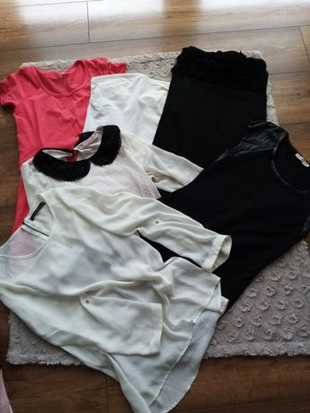 Paka ubrań koszulki tuniki sukienka mgiełka