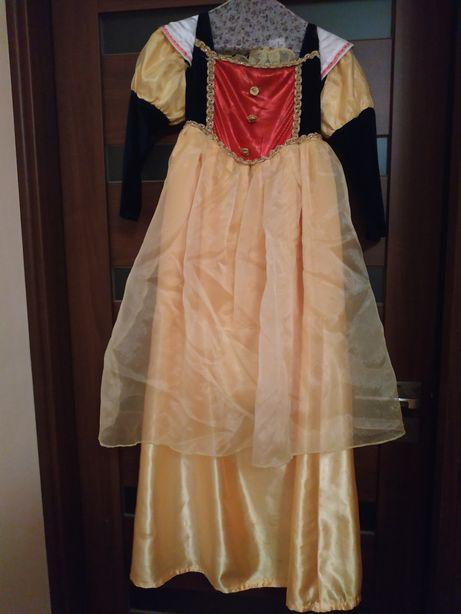 Przebranie suknia śnieżka 8 lat 134cm