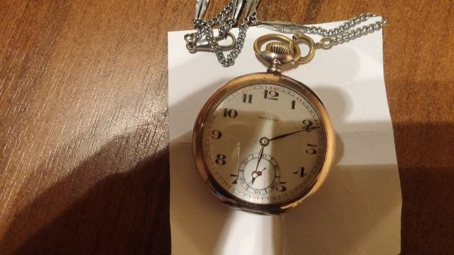 Zegarek kieszonkowy z Dewizką ANCRE SILVANA-Srebro z 1878r
