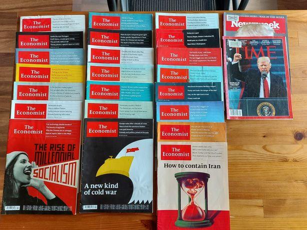 ksiazki magazyny The Economist Time Newsweek po angielsku. 25 numerow