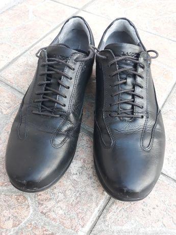 Skórzane buty Lasocki, czarne rozm.41
