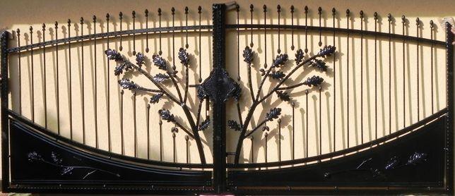 Brama kuta dwuskrzydłowa bardzo solidna Wzór 24