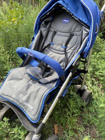 Детская прогулочная складная  коляска Chicco Multiway синяя