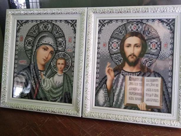 Вінчальні ікони (чеський бісер)