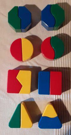Figuras geométricas 2 peças para bebé - 8 figuras