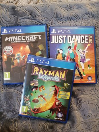 Gry ps4, Just Dance 2017 ps4, Minecraft ps4, Rayman Legends ps4