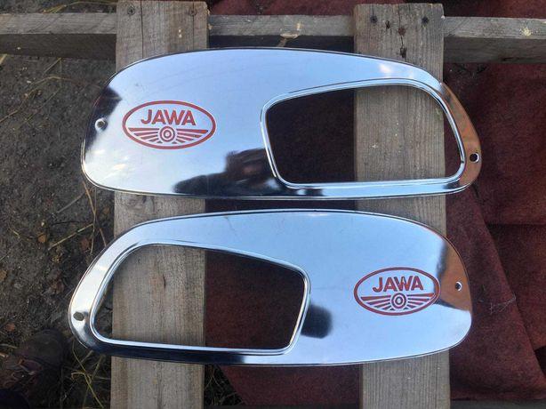 Ява Jawa 634 ранние хром накладки боковины бака оригинал