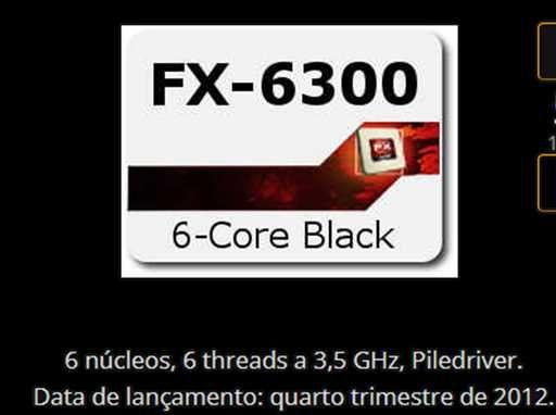 Processador AMD FX-6300 six core + board