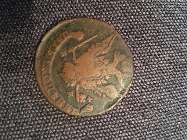 Редкий тираж монета 5 копеек 1777 года