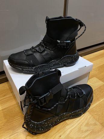 Czarne sneakersy meskie - kazar studio