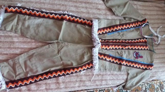 Новогодний костюм индейца на 3-5 лет. 350 руб.