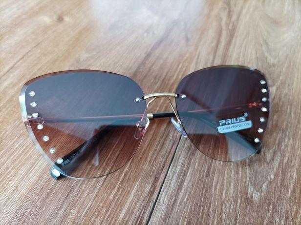 Okulary przeciwsłoneczne UV 400 brąz