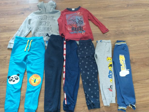 Paczka ubranka dla chłopca 128-134