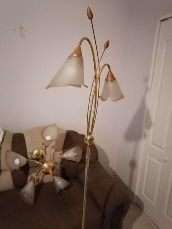 Lampa żyrandol plus kinkiet