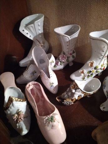 Kolekcja buciki porcelana figurka