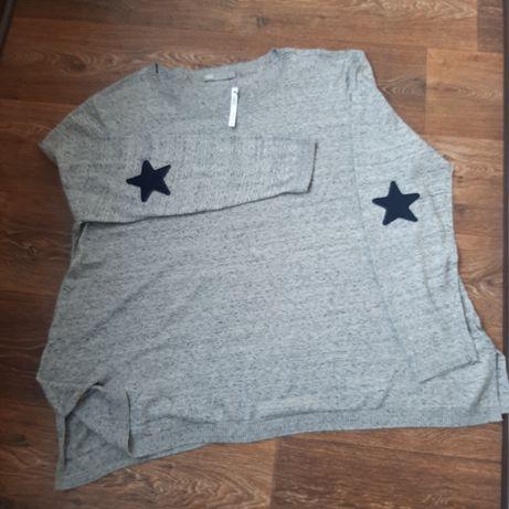 Трикотажная футболка большого размера