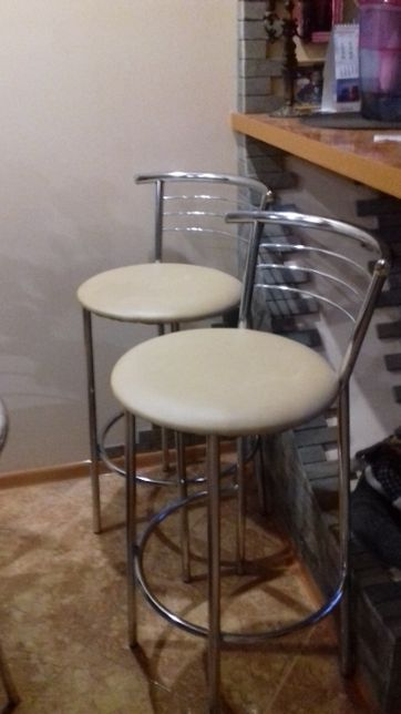 """продам два барных стула """"Marco hocker"""" хром"""