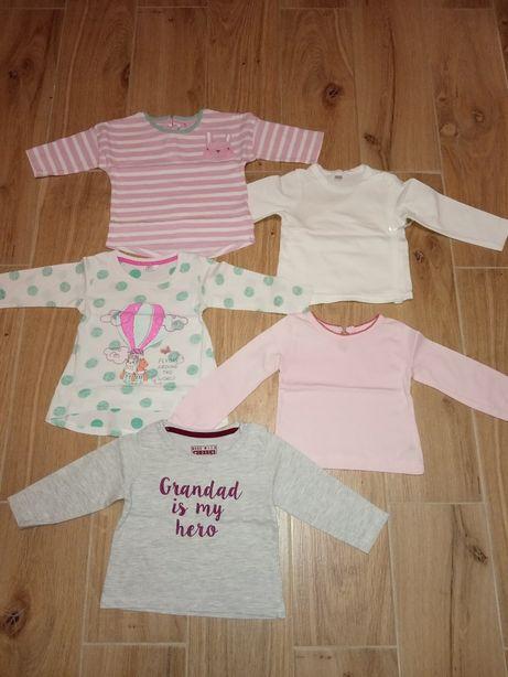 Ubranka dla dziewczynki (spodnie, bluzki, bluzy, sweterki) r.68 Zestaw