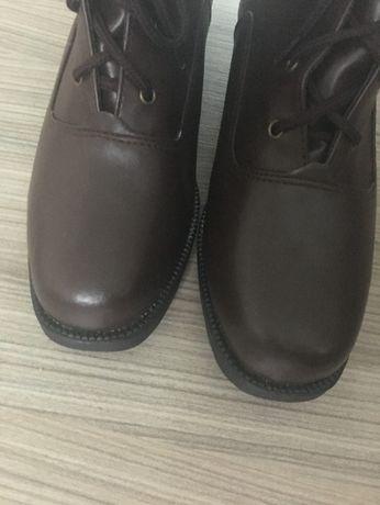 buty półbuty botki skóra 31 brąz