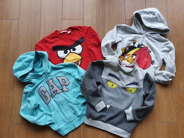 H&M Gap Angry Birds 4x bluza r.110/116
