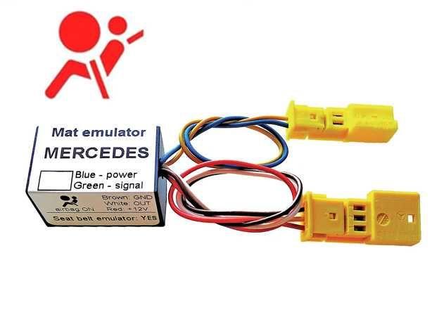 Emulador Sensor Esteira AirBag+Cinto Mercedes W203 W209 W463 Viano