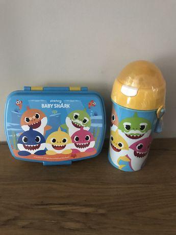 Nowy zestaw Baby Shark bidon i lunch box