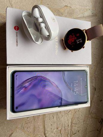 Huawei p30 pro 256 GB  ,zegarek watch g2,słuchawki freebuds3