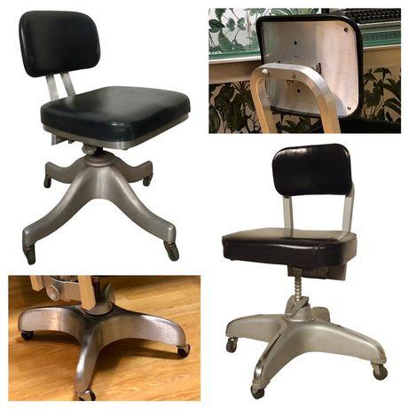 Shaw Walker projektowe krzeslo biurowe industrialne  fotel 1960r
