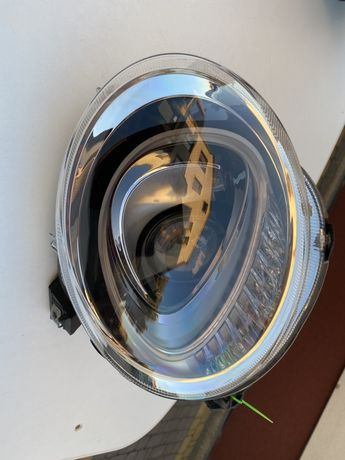 Lampa przód lewa Fiat 500 lift Europa oryginał uszkodzona okazja