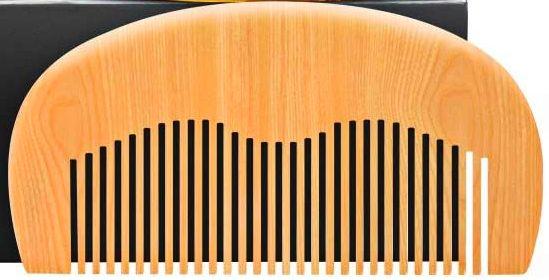 Pente para a barba - Madeira - Novo - Barbearia