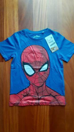 T-shirt NOVA com etiqueta do Homem Aranha