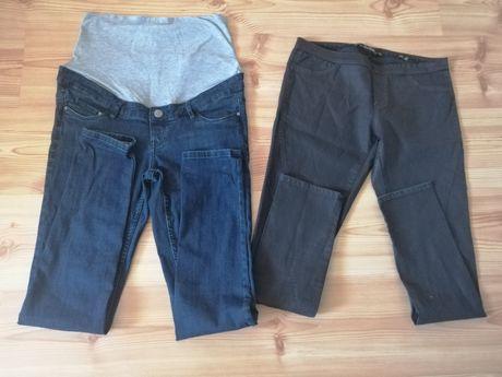 Spodnie ciążowe 2 pary, jeansy