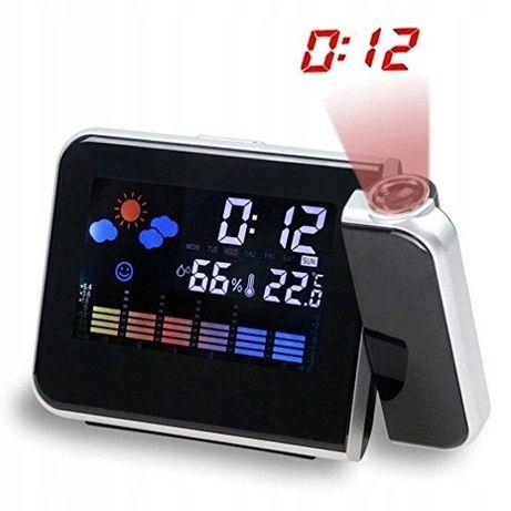 Zegarek i budzik. Elektroniczny. Z projektorem godziny.
