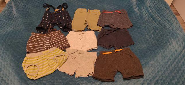 Ubranka na lato, chłopiec,spodenki, koszulki, rampersy