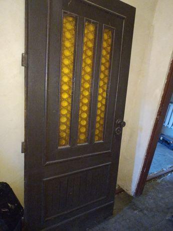 Drzwi dębowe zewnętrzne 90x200