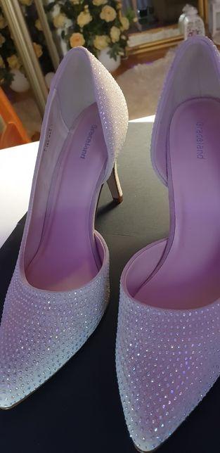 Czułenka szpilki buty damskie cyrkonie 39