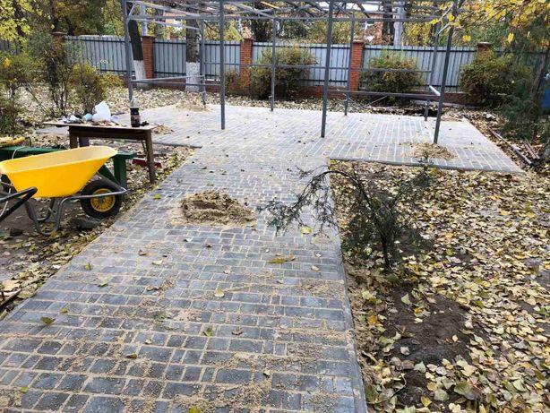 Асфальтные работы, тротуарная плитка, благоустройство, бетон, демонтаж