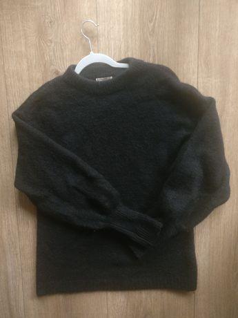 Czarny mięsisty ciepły sweter H&M S/M