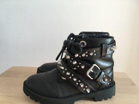 Buty dla dziewczynki ze skóry ekologicznej, Zara, rozmiar 27. Toruń - image 1