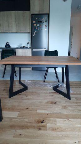 Stół rustykalny metalowy dębowy rozkładany 260