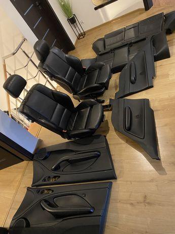 Wnetrze fotele bmw e46 coupe sportsitze czarna skora elektryczne sport