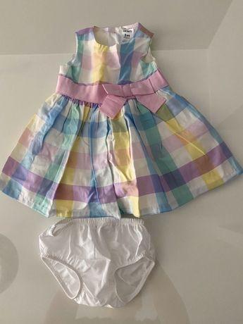 Sukienka w krateczkę 56-62 cm